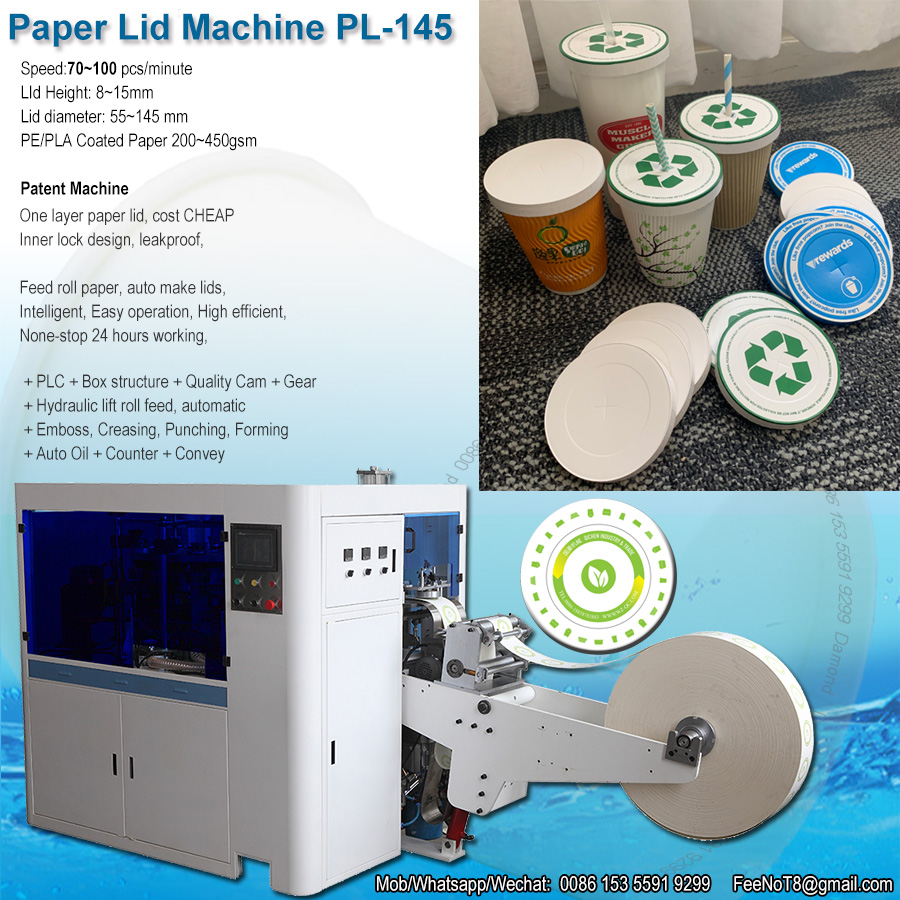 cup paper lid cover machine